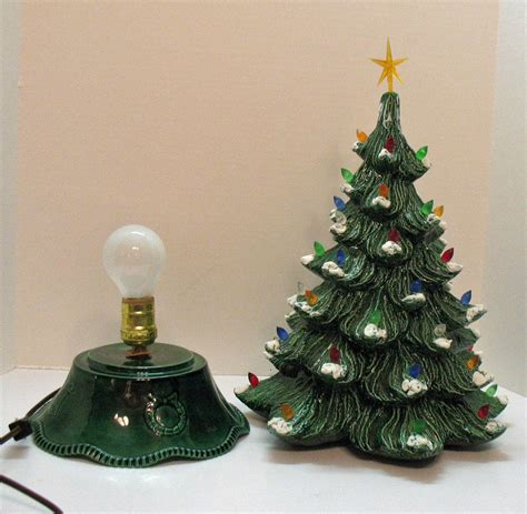 vintage ceramic tree with faux plastic lights