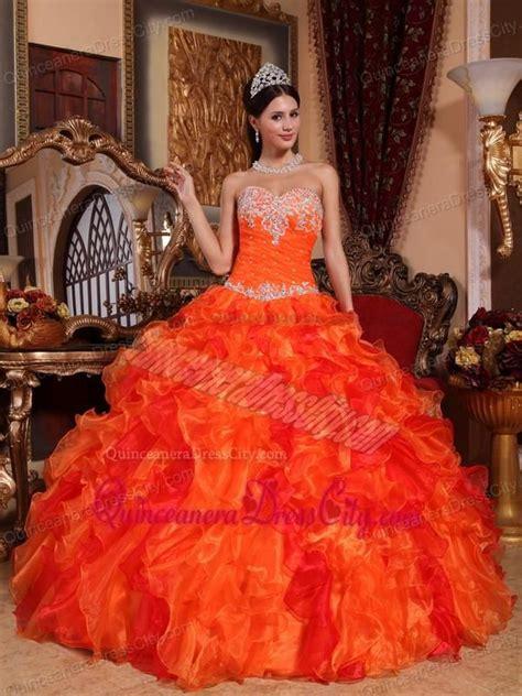 naranja | Quince dresses, Pretty quinceanera dresses ...