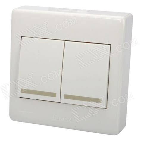 2 wall mount light button switch plate cover white