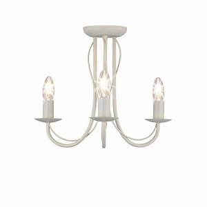 Wilko arm chandelier metal ceiling light fitting cream
