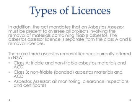 asbestos removal licence  nsw