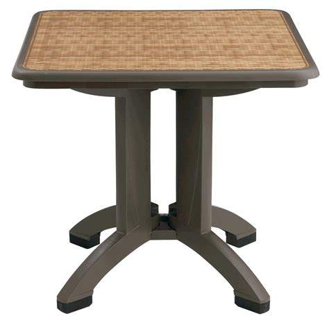 32 quot square grosfillex resin folding table with