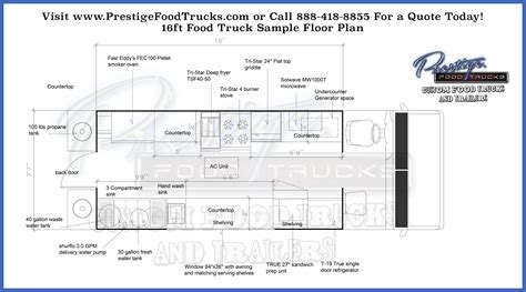 cuisine customiser custom food truck floor plan sles prestige custom