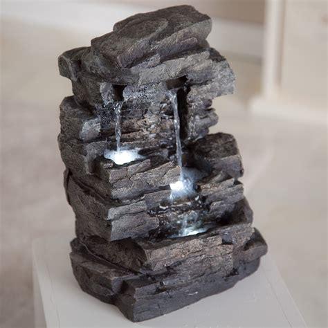rock waterfall indoor outdoor tabletop fountain