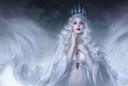 snow queen fantasy abstract background wallpapers