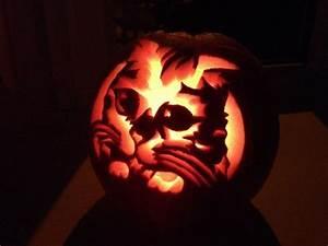 Cute Cat Pumpkin Design X Themed Jack O Lanterns Pinterest ...