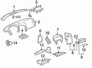 Pontiac Grand Prix Instrument Panel Knee Bolster  Pewter