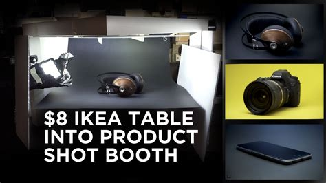 turn   ikea table  product shot booth