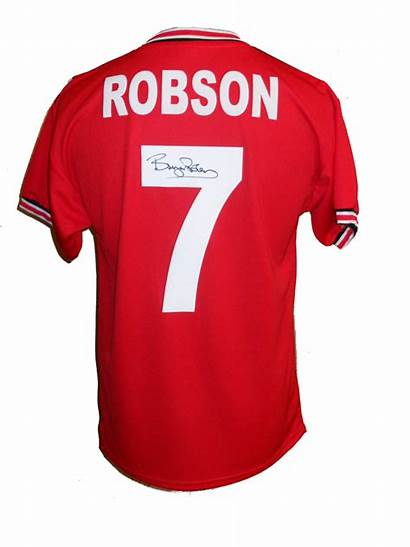 Shirt Robson Bryan United Manchester Football Signed