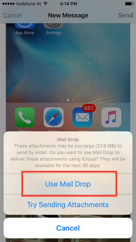 how to send large from iphone how to send large files through email on iphone or mac