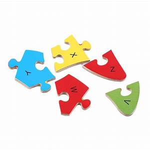 26 letter baby kids wooden animal puzzle toy children With letter puzzle for kids