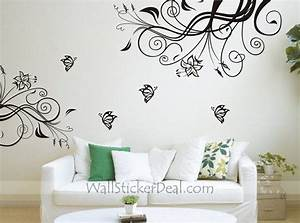 191 best flowers wall stickers images on pinterest With butterfly wall decals