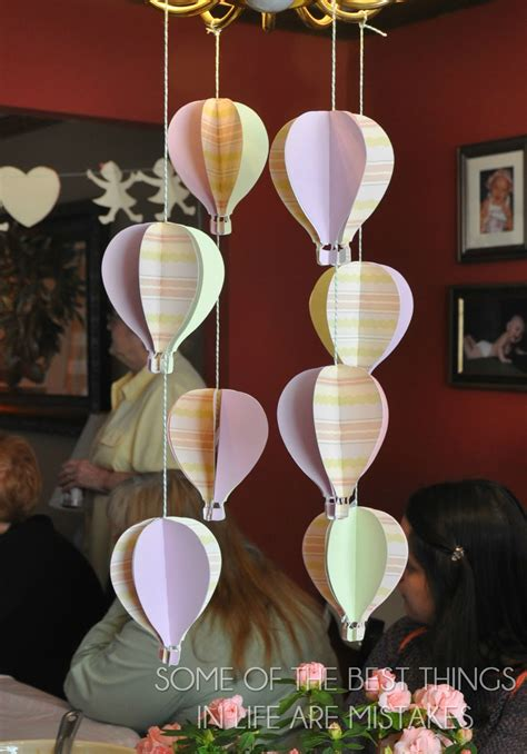 Air Decorations - some of the best things in are mistakes baby shower