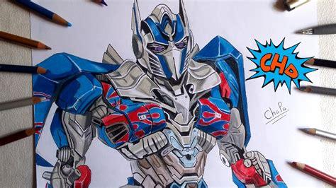 dibujando  optimus prime   knight drawing