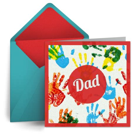 finger painting  dad  birthday card