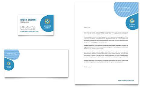 employment agency business card letterhead template design