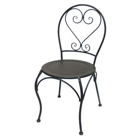 chaise en fer forgé de jardin chaise ronde en fer forge charme achat vente chaise fer forgé cdiscount