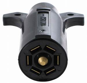 Pollak Black Plastic  7-pole  Rv-style Trailer Connector