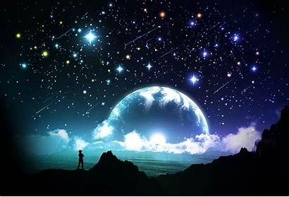 Sky Night Stars Wallpapers Moon Background Pretty