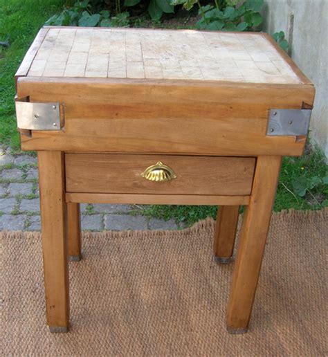 tiroir meuble cuisine ancien billot de boucher pour cuisine