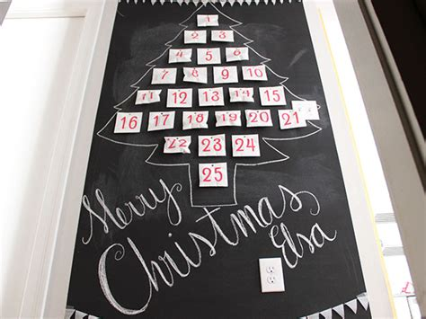 diy chalkboard wall advent calendar diy network blog