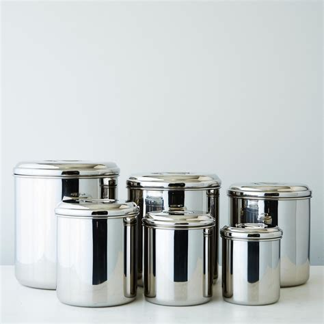 stainless steel kitchen canister set stainless steel canisters set of 6 on food52