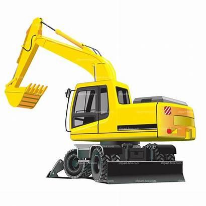 Excavator Clip Clipart Cat Vector Bulldozer Excavators