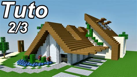minecraft tuto maison moderne cosy 2 3