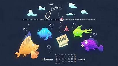 Desktop Background Wallpapers June Calendars Fishing Passion