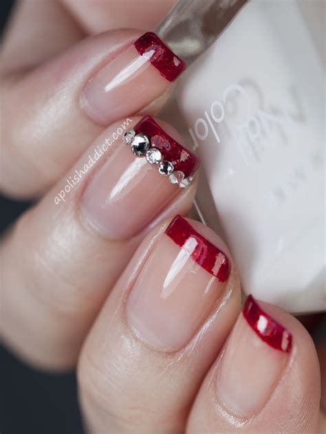 top  elegant christmas party nail designs  simple