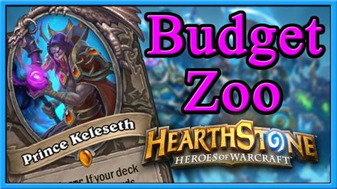 Hearthstone Asmr The Best Budget Zoo Deck With Prince