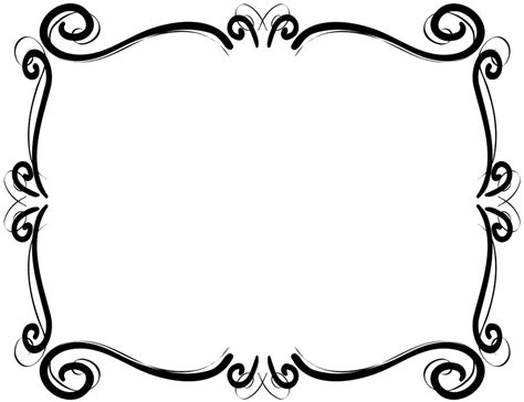 Black Scroll Frame Clipart 20 Free Cliparts