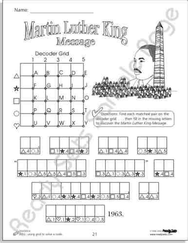 martin luther king jr worksheets word search 10 best images of printable cursive sentence worksheets
