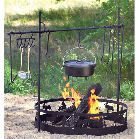 cooking camping fire pit equipment campfire gear guide open accessories cook tools cookware outdoor sportsman sportsmansguide station vehicles cool camp