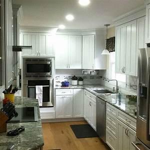 new kitchen construction white kraftmaid cabinets 1829