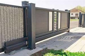Portail Coulissant En Pente : portail cloture coulissant portail jardin coulissant ~ Premium-room.com Idées de Décoration