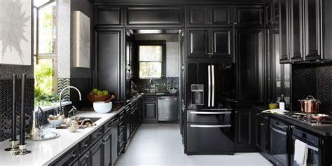 black backsplash in kitchen 12 black kitchens black cabinet and backsplash ideas 4646