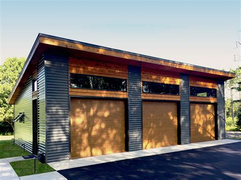 Garage Designs : Modern Garage Plan With Bays-dj