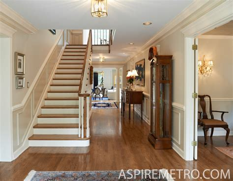 new georgian home in princeton traditional staircase