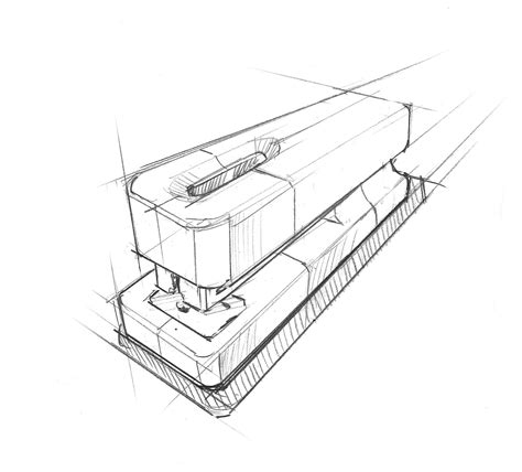 stapler technical drawing design sketches
