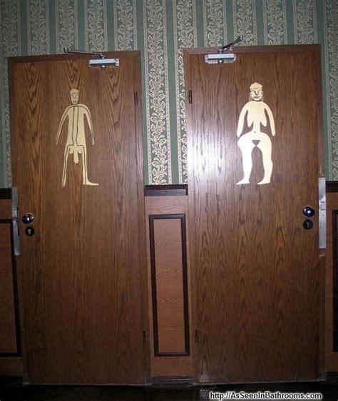 best bathroom door signs
