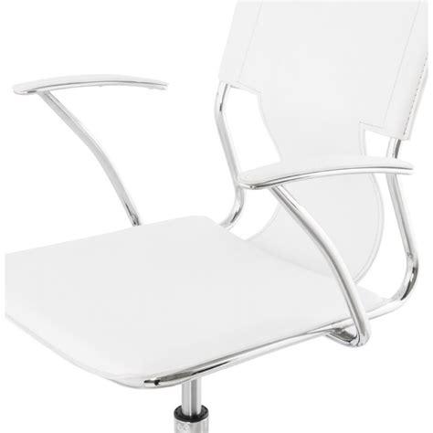 fauteuil bureau cuir blanc chipie rotary office armchair in polyurethane white