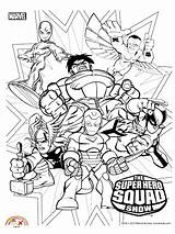 Coloring Superhero Marvel Cartoon Squad Blogx Super Hero Captain Printable America sketch template