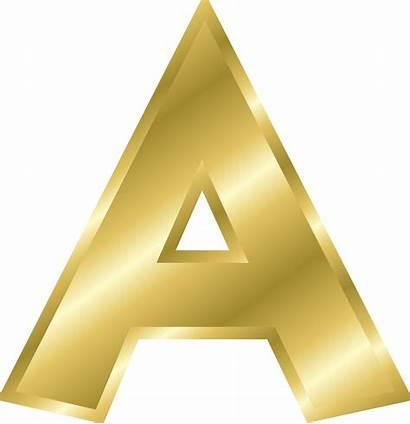 Alphabet Letters Gold Clip Effect Onlinelabels Svg