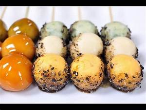 Japanese Dessert - Dango - YouTube