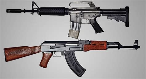 the ar 15 vs the ak 47 comparing two great semi automatic