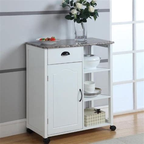 Marble Top Kitchen Island On Wheels by White Kitchen Island Storage Cart On Wheels With Granite
