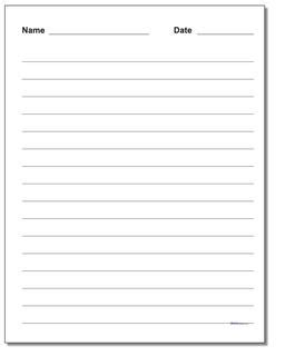 handwriting paper printable lined paper