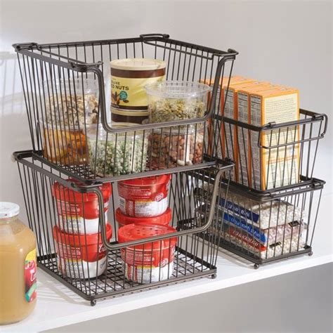 kitchen storage baskets easy storage solutions to organize the kitchen pantry 3119