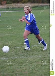 Teen Girl Soccer Player Chasing Ball Stock Image - Image ...